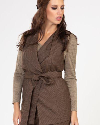 Прямая костюмная жилетка без рукавов прима линия
