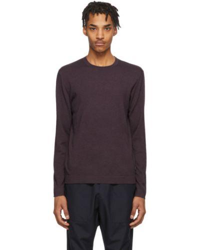 Черный шерстяной длинный свитер с воротником Z Zegna