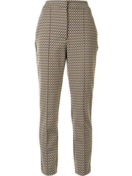 Коричневые со стрелками брюки узкого кроя с потайной застежкой Dvf Diane Von Furstenberg