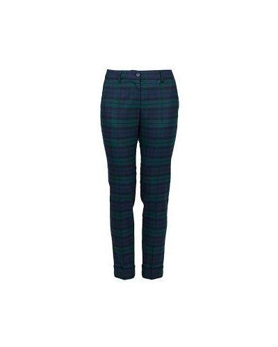 Зеленые брюки шерстяные P.a.r.o.s.h.
