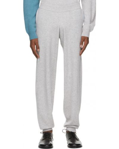 Z kaszmiru niebieskie spodnie Frenckenberger