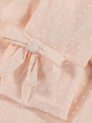 Różowa sukienka z haftem z akrylu Tartine Et Chocolat