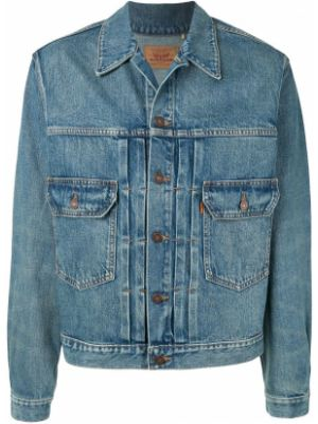 Синяя джинсовая куртка винтажная на пуговицах прозрачная Levi's Vintage Clothing