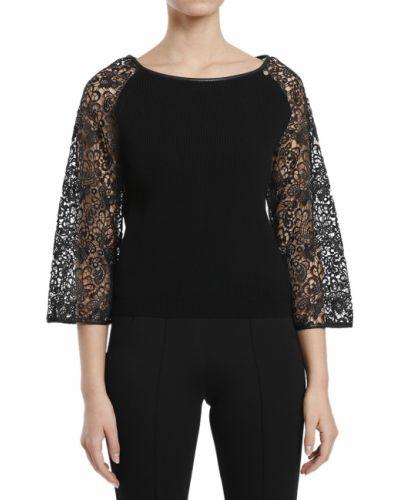 Блузка из вискозы черная Elisabetta Franchi