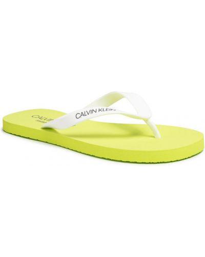 Białe sandały Calvin Klein Swimwear