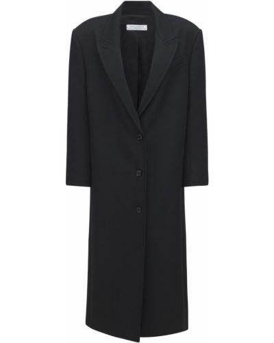 Черное пальто с карманами Philosophy Di Lorenzo Serafini