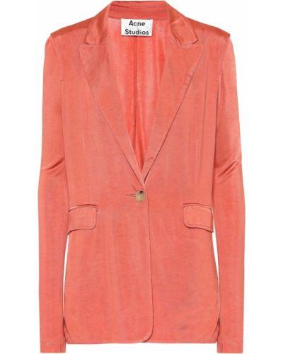 Пиджак розовый из вискозы Acne Studios