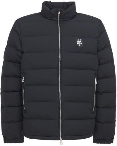 Czarna kurtka z nylonu Duvetica