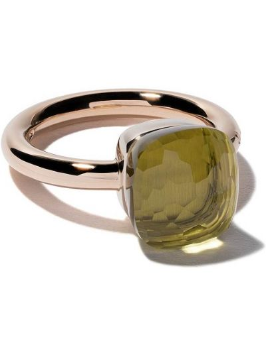 Żółty złoty pierścionek do pracy Pomellato