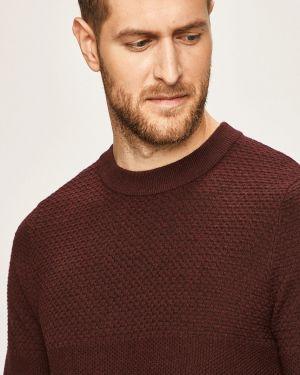 Sweter na gumce fioletowy Premium By Jack&jones