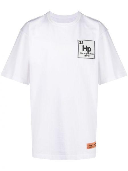 Хлопковая белая рубашка Heron Preston