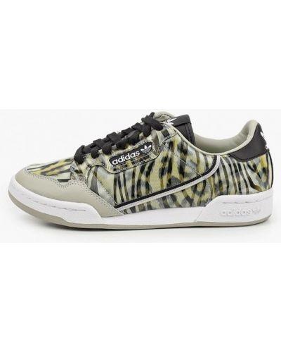 Зеленые кожаные кроссовки Adidas Originals