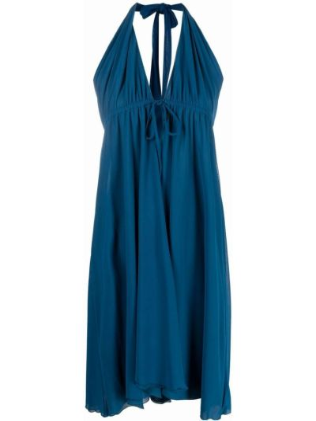 Пляжное синее платье миди без рукавов Fisico