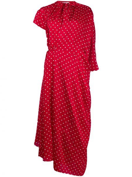 Платье в горошек шелковое Balenciaga