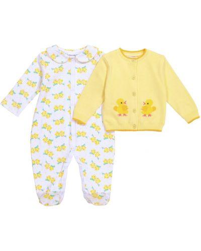 Żółty kardigan bawełniany Rachel Riley
