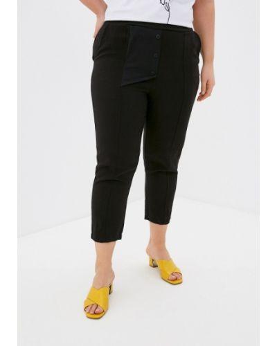 Зауженные черные брюки Lina