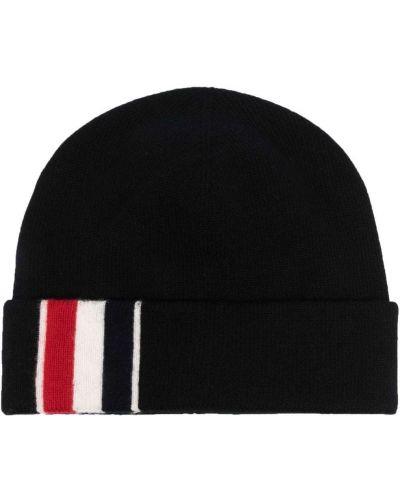Черная шерстяная шапка бини Thom Browne