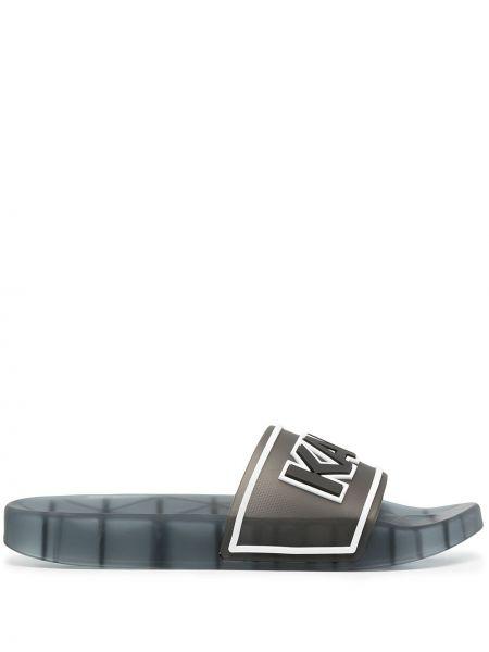 Otwarty czarny sandały otwarty palec u nogi Karl Lagerfeld