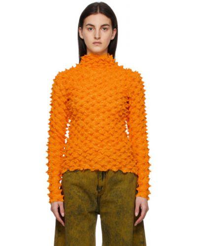 Хлопковая желтая футболка с длинными рукавами Marques Almeida