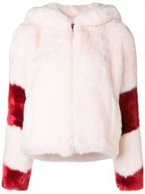 Розовая длинная куртка из искусственного меха La Seine & Moi