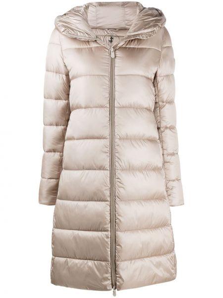 Нейлоновое пальто классическое с капюшоном с жемчугом Save The Duck