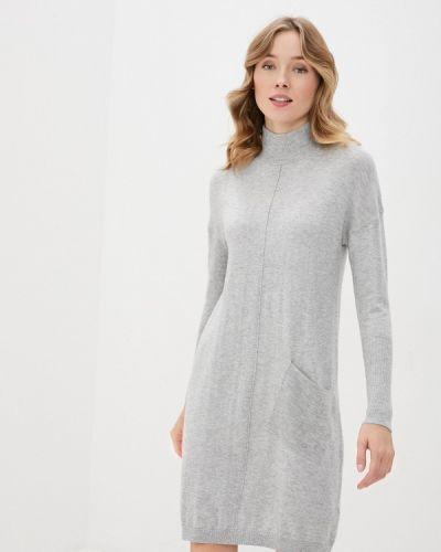 Серебряное вязаное платье Baon