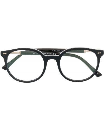 Черные очки круглые металлические Bvlgari