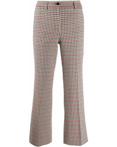 Укороченные брюки расклешенные с карманами Incotex