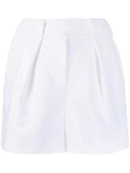 Хлопковые белые шорты с карманами Alexandre Vauthier
