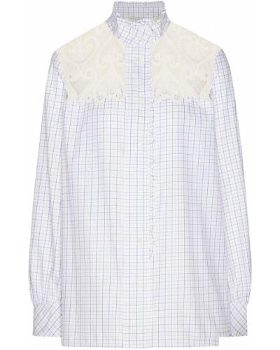 Блузка с длинным рукавом кружевная в клетку Sandro