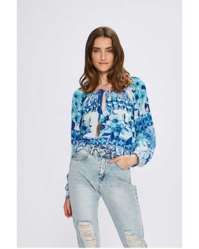 Синяя блузка Desigual