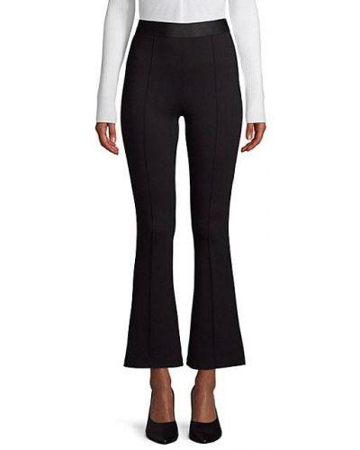Czarne spodnie z nylonu rozkloszowane Bailey 44