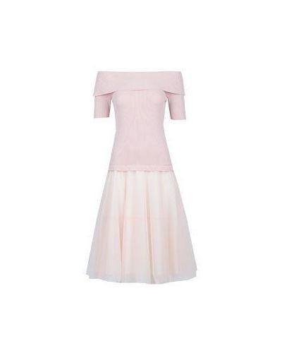 Розовое платье из вискозы P.a.r.o.s.h.