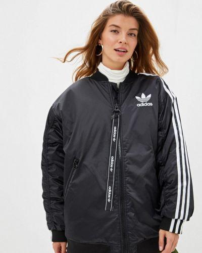 Утепленная куртка черная осенняя Adidas Originals