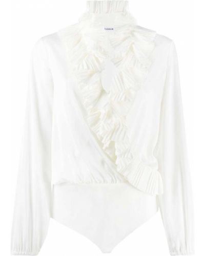 С рукавами белая блузка с декольте P.a.r.o.s.h.