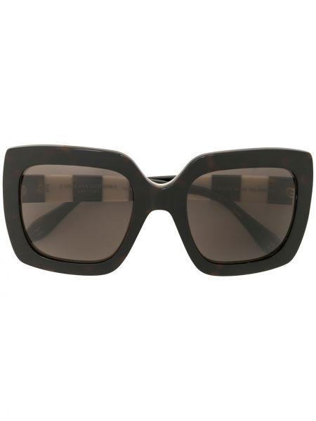Прямые муслиновые черные солнцезащитные очки квадратные Carolina Herrera