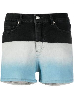Синие хлопковые джинсовые шорты с нашивками Zadig&voltaire