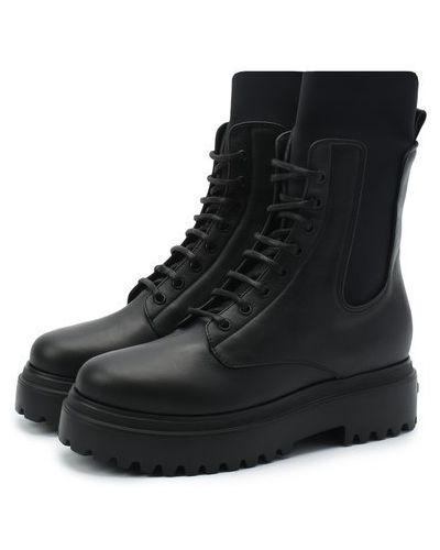 Кожаные ботинки челси на шнуровке с подкладкой Le Silla