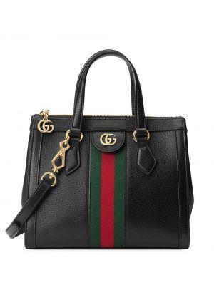Черная нейлоновая сумка-тоут круглая на молнии Gucci