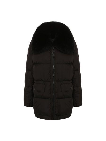 Куртка оверсайз - черная Army Yves Salomon