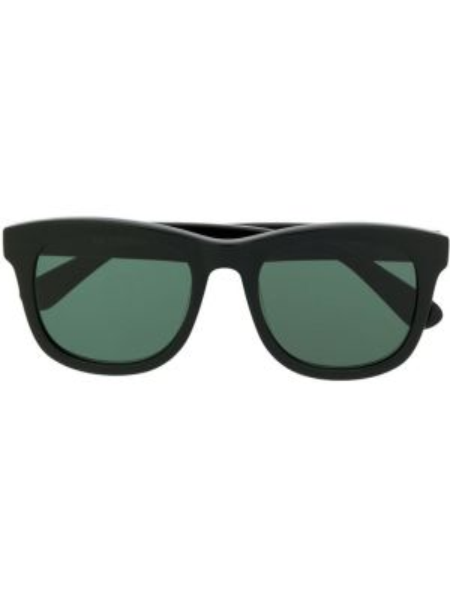 Прямые муслиновые черные солнцезащитные очки квадратные Han Kjøbenhavn