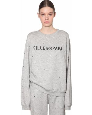 Prążkowana bluza bawełniana Filles A Papa