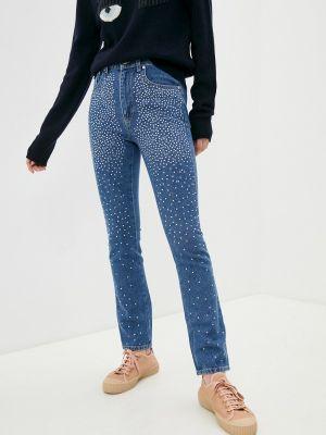 Синие джинсы-скинни узкого кроя Chiara Ferragni Collection
