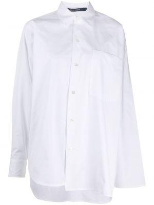 Белая пуховая асимметричная классическая рубашка с воротником Sofie D'hoore