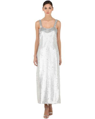 Платье с пайетками с бахромой Vivetta