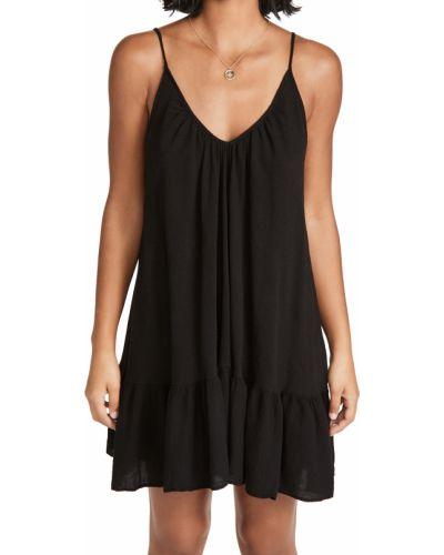 Хлопковое черное платье мини стрейч 9seed