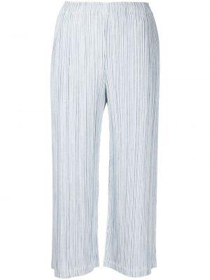 Укороченные брюки - белые Pleats Please Issey Miyake