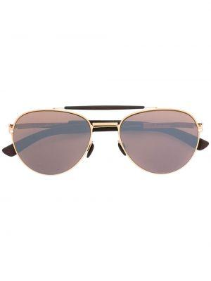 Солнцезащитные очки металлические с завязками Mykita