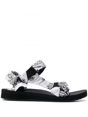 Sandały płaskie bez obcasa - białe Arizona Love