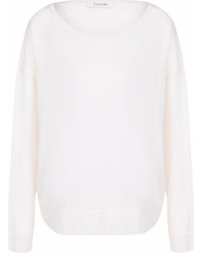 Белый свитер свободного кроя Cruciani
